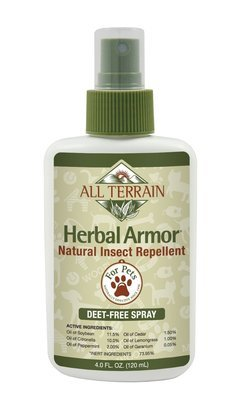 All Terrain Pet Herbal Armor DEET-free, Natural Insect Repellent Spray