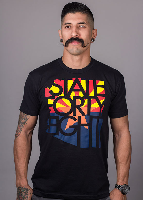 State Forty-Eight Black SFE Flag