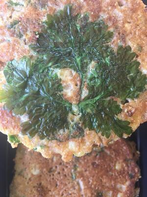 Radish Republic corn and cilantro pancakes