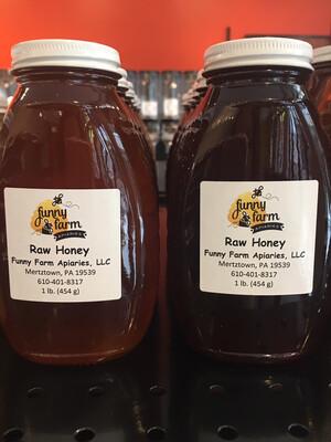 Funny Farm Apiaries raw honey 1 lb. PP