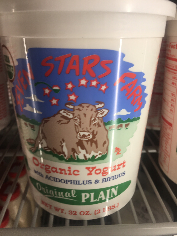 Seven Stars Farm plain yogurt 32 ounces