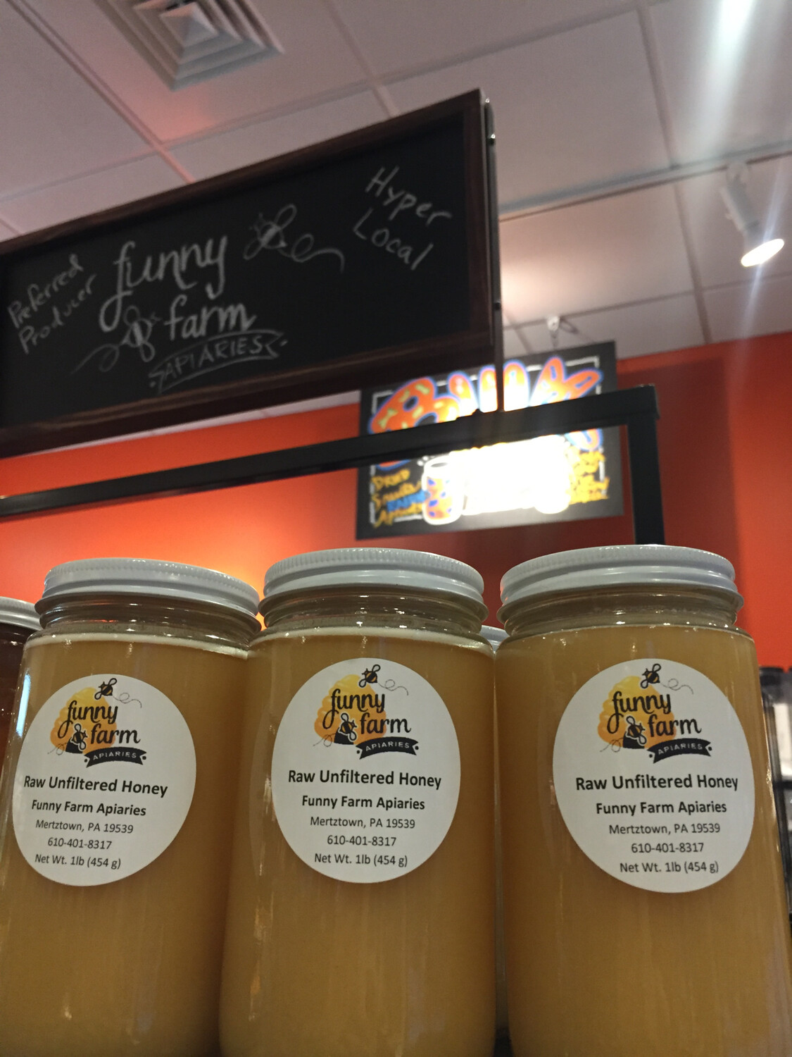 Funny Farm Apiaries 1 lb raw unfiltered honey PP