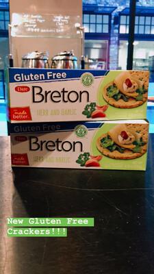 Breton Gluten Free Garlic and Herb Crackers