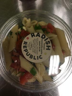 Radish Republic Tomato mozzarella pasta salad
