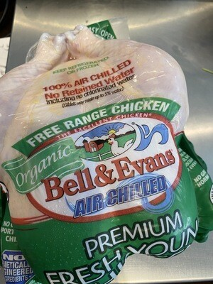 Bell and Evans whole OG fresh young chicken (about 4 lbs)