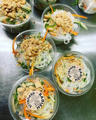 Radish Republic Vietnamese Rice Noodle Salad Vegan Gluten free