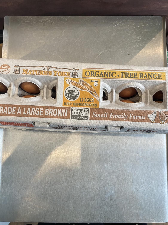 Nature's Yolk, organic local free range large eggs