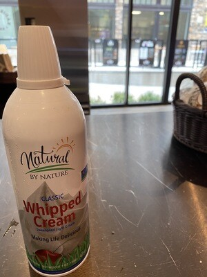Natural by Nature whipped cream 7 ounce