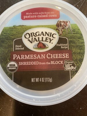 Organic Valley shredded parmesan 4 ounce