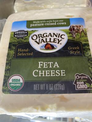 Organic Valley feta block, 8 ounce