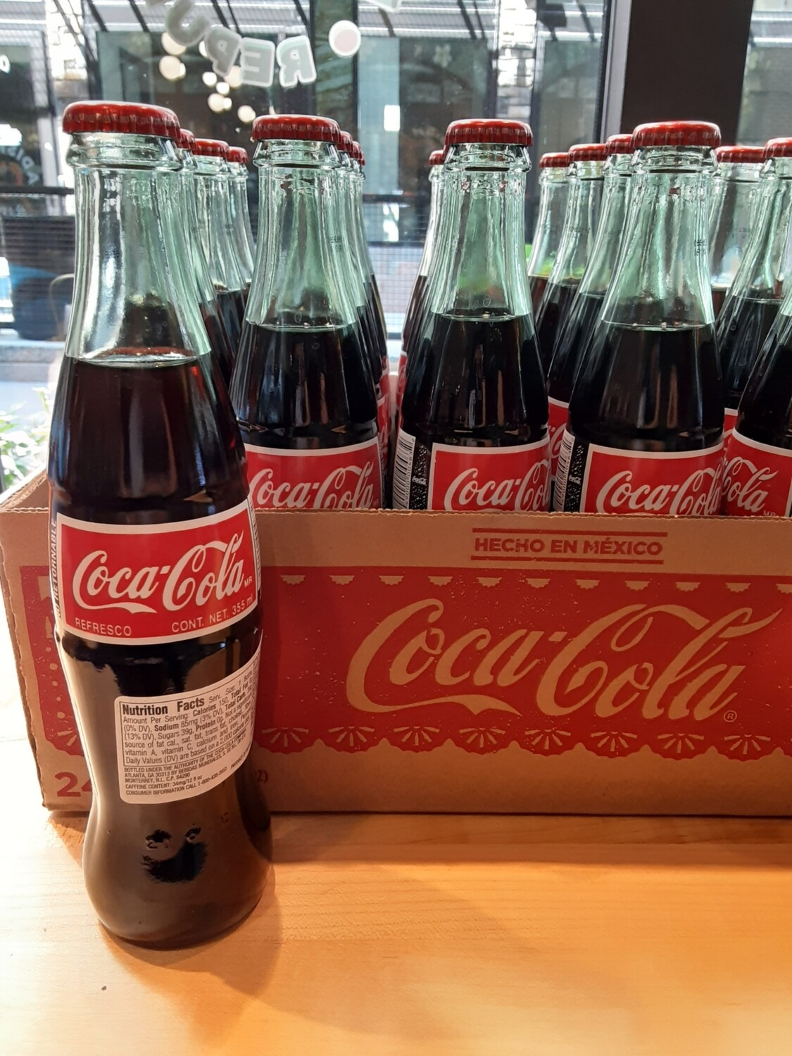 12 oz Coca Cola glass bottle