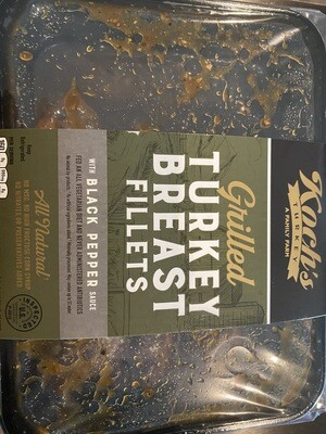 Koch grilled turkey breast with black pepper sauce fully cooked 10 ounce