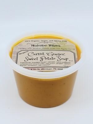 Holistic Vibes - Carrot Ginger Sweet Potato Soup - OG, Vegan, GF