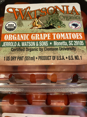 Organic red grape Tomatoes pint
