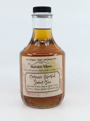 Holistic Vibes - Herbal Sweet Tea - 32 ounce -OG, Vegan, GF