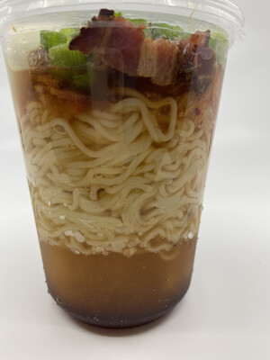 Radish Republic Breakfast Ramen heat and eat in 32 ounce microwaveable plastic cont.
