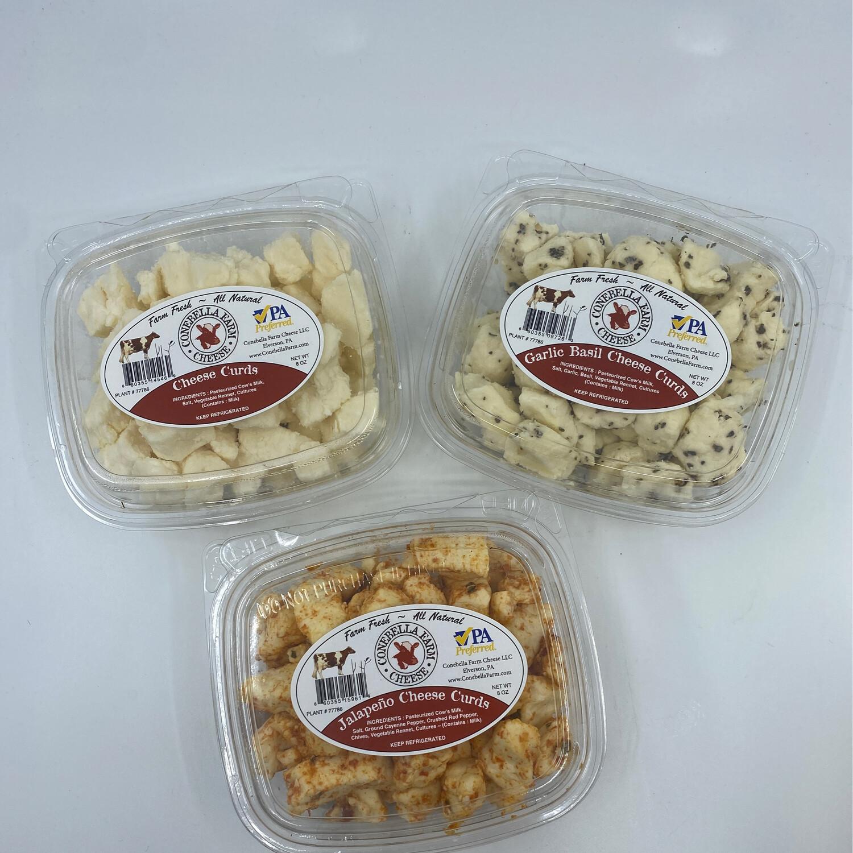 Conebella Farm PP garlic basil Cheese Curds