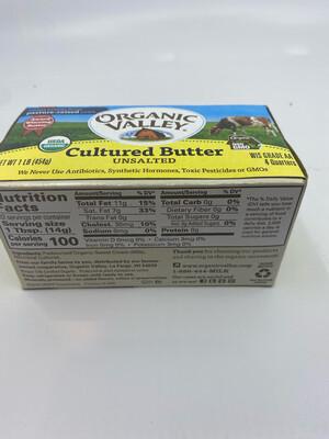 Organic Valley cultured butter sticks 1 lb