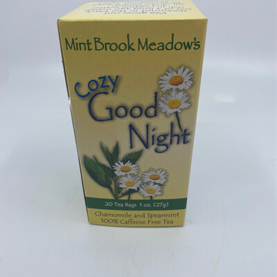 Mint Brook Meadow's cozy Goodnight  caffeine free Tea