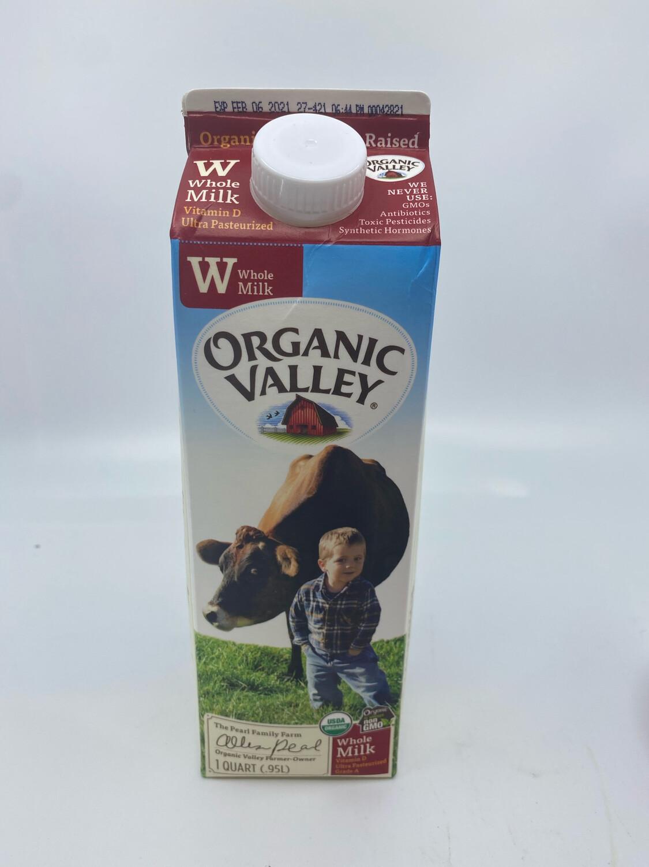 Organic Valley milk quart