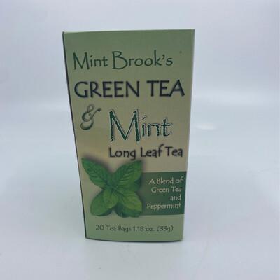 Mint Brook Meadow's Green tea & Mint Long leaf tea