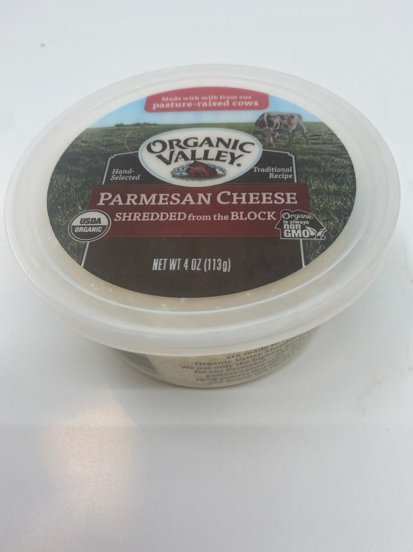 Organic Valley shredded parmesan 4 ounce