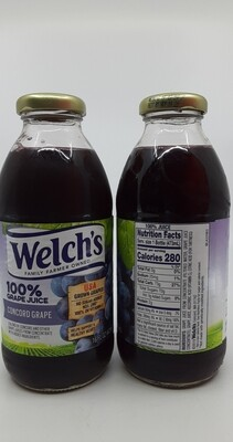 Welch's 100% concord grape juice 16 fl.oz glass bottle