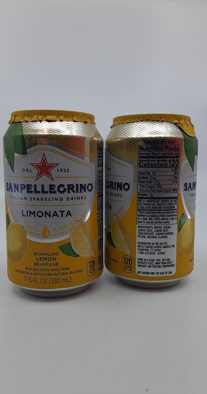 San Pellegrino sparkling italian flavored water Limonata 11.15 oz
