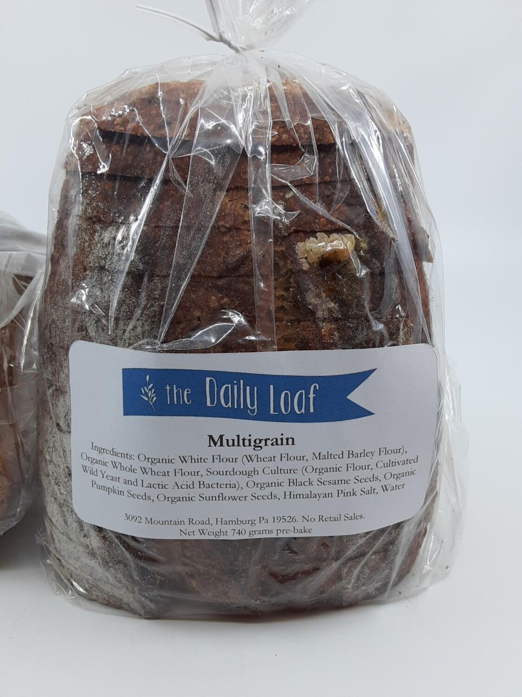Daily Loaf Sliced multigrain sourdough half loaf PP