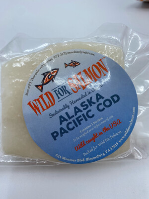 Wild For Salmon PP Pacific Alaska Cod Loin (~.42 lbs)