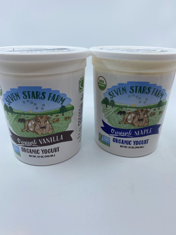 Seven Stars flavored yogurt 32 ounces
