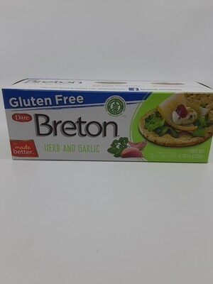 Breton Gluten Free Garlic and Herb Crackers