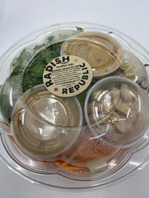 Radish Republic Ramen noodle peanut sauce bowl