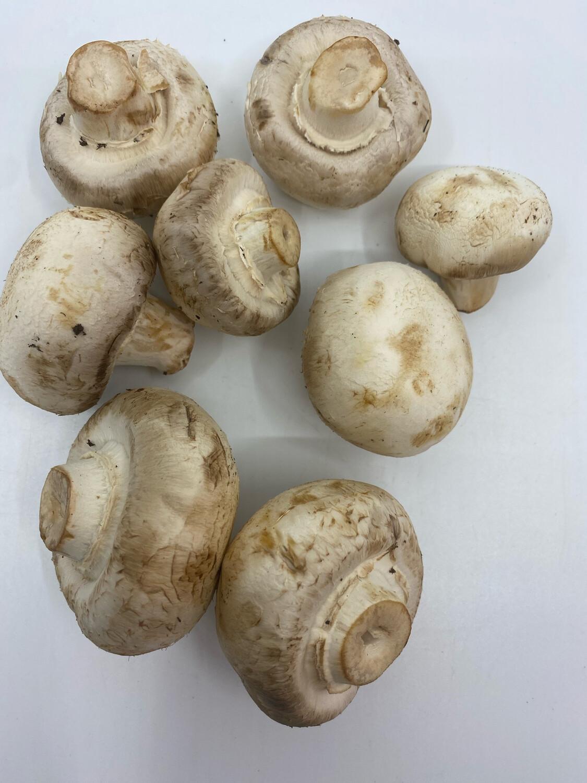 Organic Mother Earth white button mushrooms (1/2 lb)
