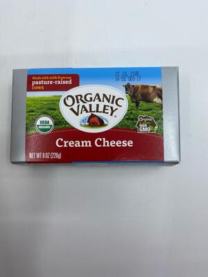 Organic Valley cream cheese 8 oz bar