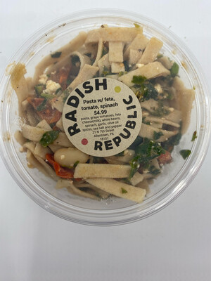 Radish Republic pasta with feta, grape tomatoes and spinach 16 ounce