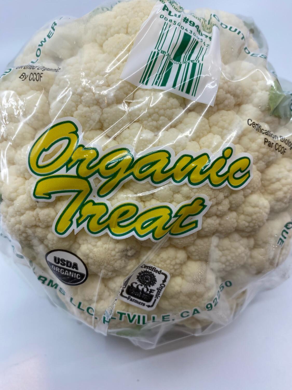Organic white cauliflower