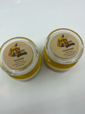 Funny Farm Apiaries PP 100% beeswax candle