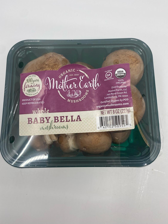 Mother Earth Farm PA cremini OG mushrooms 8 oz pack