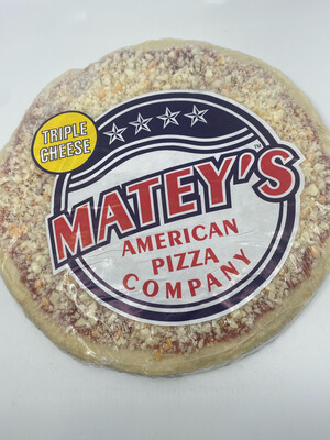 """Matey's Pizza PP Frozen 9"""" or  12"""" pizza triple cheese"""