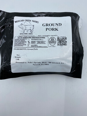 Morgan Creek Farm PP ground pork  (1 lb)