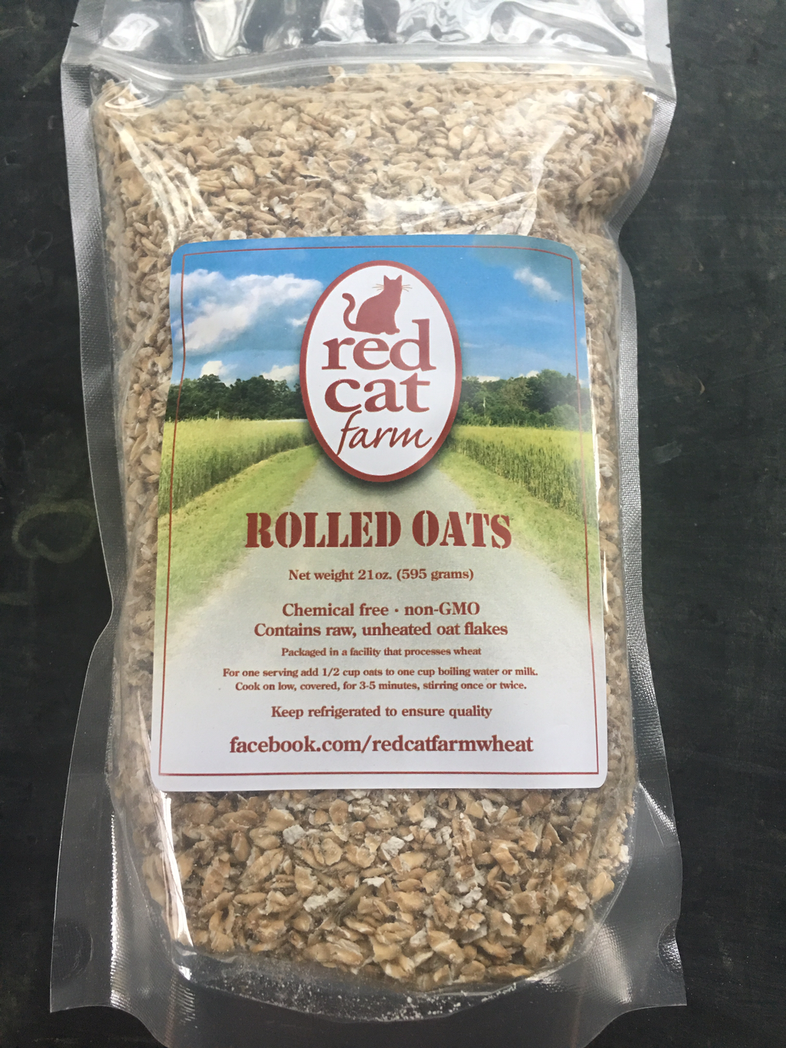 Red Cat Farm Rolled Oats - Oatmeal PP