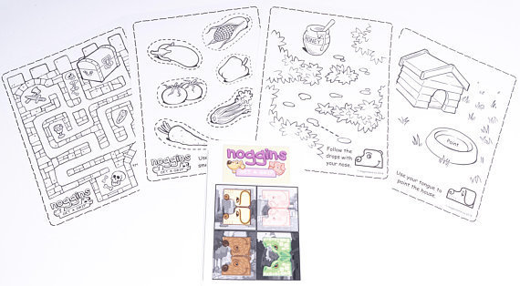 Noggins Activity Sheet Set