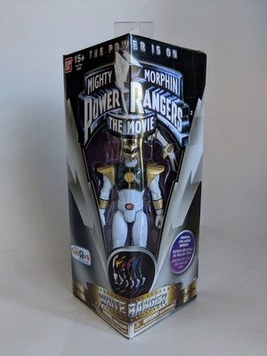 Bandai Mighty Morphin Power Rangers White Ranger The Movie- Toys R us Exclusive action figure