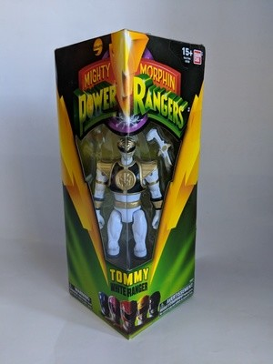 Bandai Mighty Morphin Power Rangers White Ranger Tommy collectible figure
