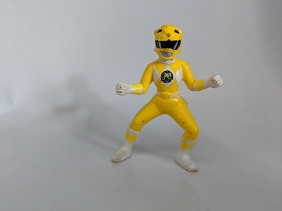 Mighty Morphin Power Rangers collectible figures Yellow Ranger