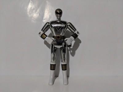 Mighty Morphin Movie Metallic White Power ranger Action figure