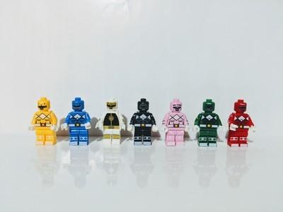 Mighty Morphin Power Rangers lego custom set of 7