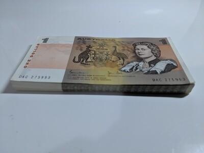 UNC Australian $1 note bundle of 94