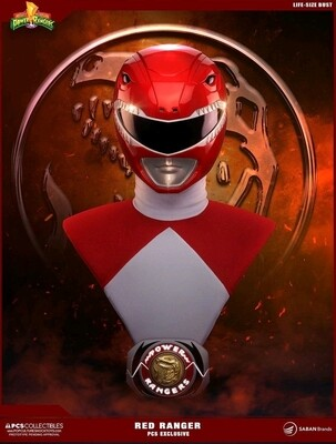 Power Rangers - Red Ranger Life Sized Bust PCS Exclusive FULL SIZE